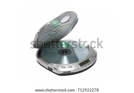 Portable Cd Player Isolated On White Background
