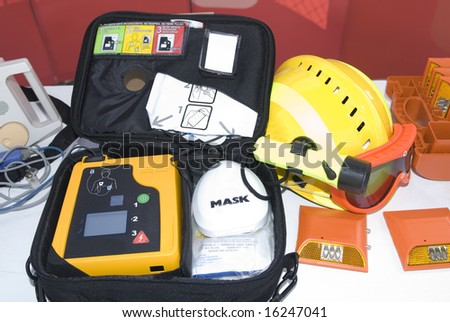 portable defibrillator for hearth emergencies