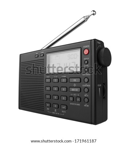 Portable Digital Radio, isolated on white background