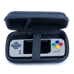 Portable Game Console in case on white background isolation