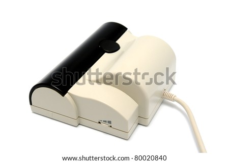 Portable handy scanner on a white background