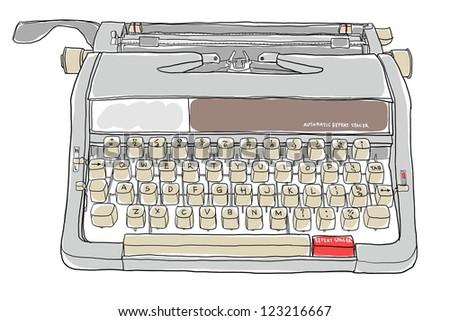 portable manual typewriter wood grain accent working