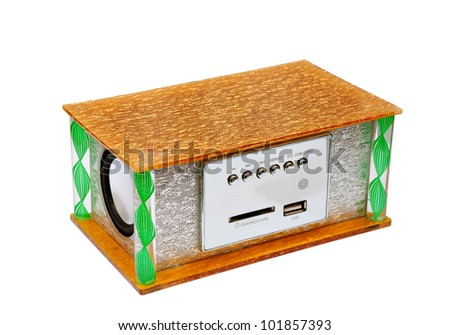 Portable media a player isolated on a white background