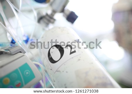 Portable oxygen cylinder for medical purposes #1261271038