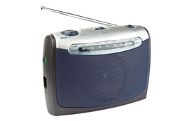 Portable radio set isolated on white background