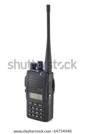 portable radio sets isolated on white