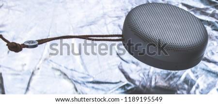Portable speaker floating #1189195549