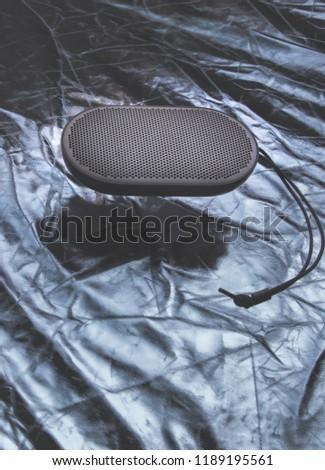 Portable speaker floating #1189195561