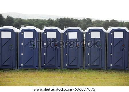 portable toilet in a row outdoor #696877096