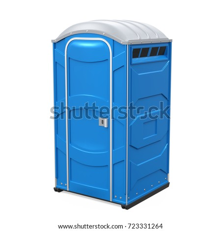 portable toilet isolated. 3d...