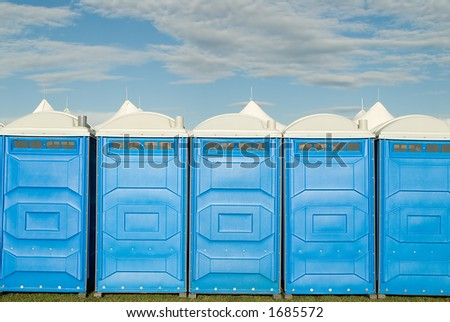 Portable Toilet, porta potty.