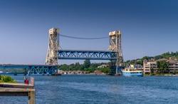 Portage Lift Bridge, Houghton, Michigan - the world's heaviest and widest double-decked vertical-lift bridge