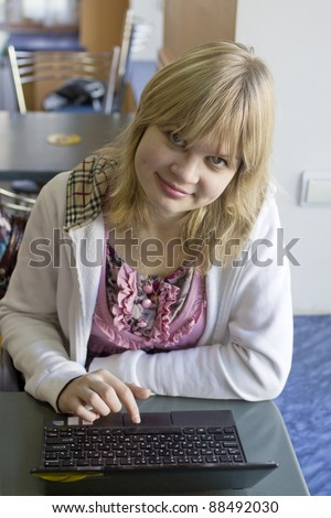 Portait of a girl with notebook
