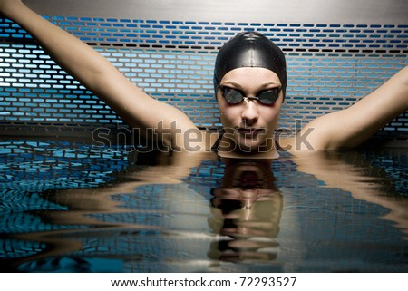 Portait of female swimmer