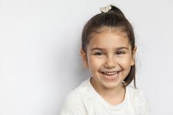 Portait of happy smiling child girl
