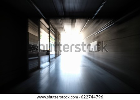 Portal of light with movement #622744796