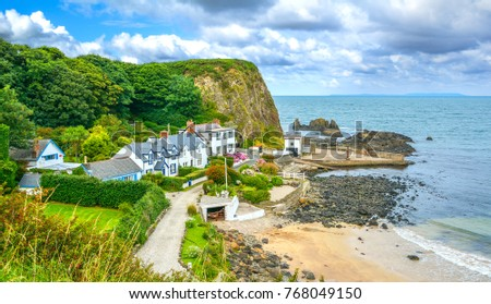 Portbradden, small village near Ballintoy, County Antrim, Northern Ireland.