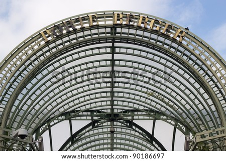 Porte Berger(Berger door), Roof of entrance of les Halles (Metro station and bussiness center) in Paris, France