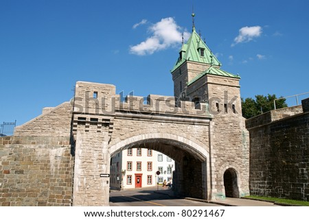 Porte Saint Louis is one of the city gates of Quebec City but it's not the one of the original fortifications. It dates back in 1878.