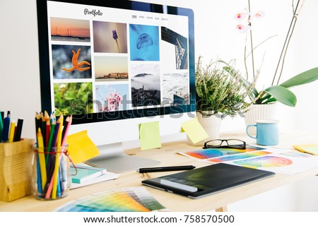 portfolio website Graphic design studio - Shutterstock ID 758570500