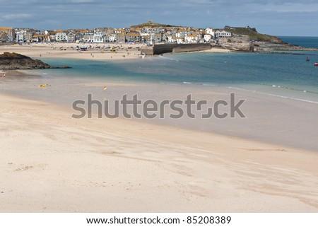 Porthminster Beach in St Ives Cornwall