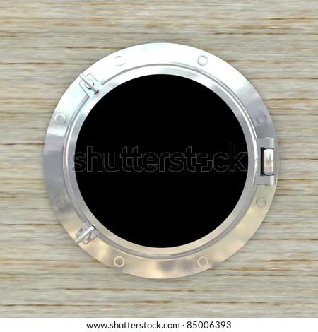 Porthole, illuminator - stock photo