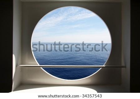 Porthole of a ocean liner