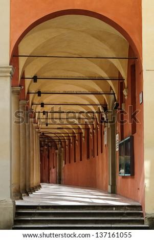 Portico in Bologna, Italy.