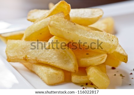 portion of homemade french fries