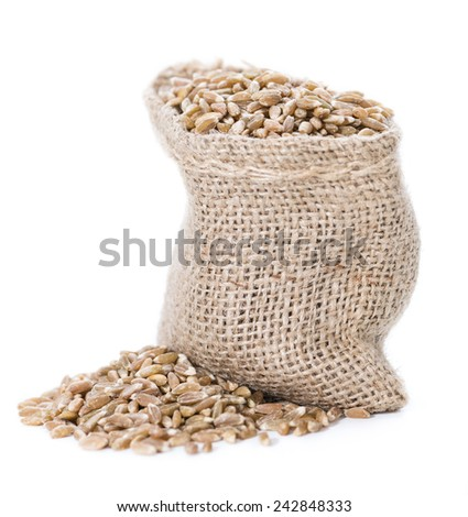 Portion of Spelt (isolated on pure white background) #242848333