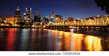 Portland city view in night time
