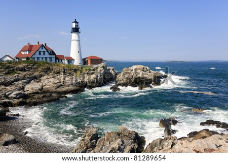 Portland Head Light in Maine, New England