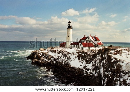 Portland Head Light Lighthouse - stock photo