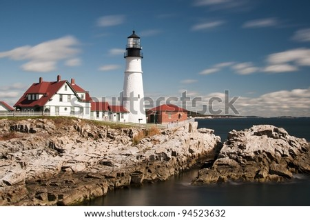 Portland Head Light Lighthouse in Maine, New England, USA #94523632