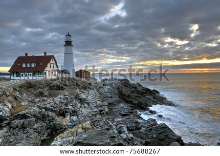 Portland Head Lighthouse in South Portland Maine