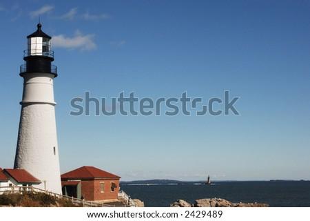 Portland Head Lighthouse on a clear day