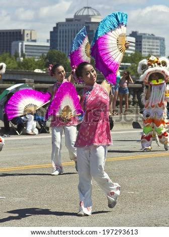 PORTLAND - JUNE 07: Rose Festival annual parade through downtown June 07, 20104