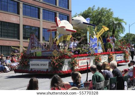 PORTLAND - JUNE 12: Rose Festival annual parade through downtown June 12, 2010 in Portland, Oregon