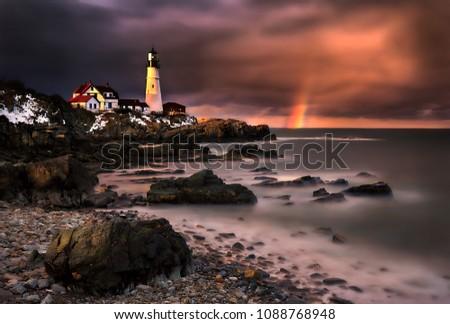 Portland Maine lighthouse  #1088768948
