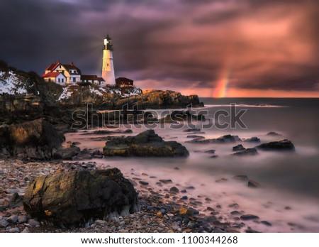 Portland Maine Lighthouse  #1100344268