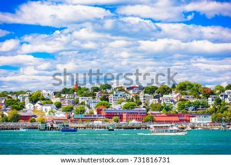 Portland, Maine, USA coastal townscape. #731816731