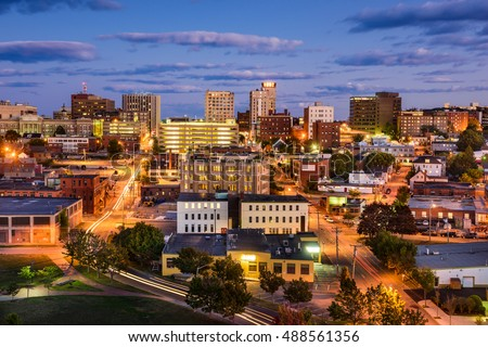 Portland, Maine, USA downtown cityscape. #488561356