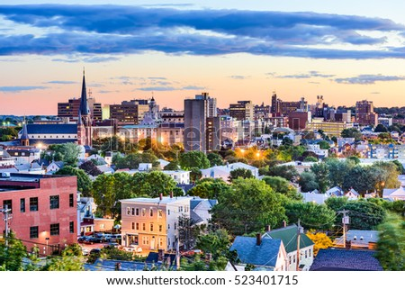 Portland, Maine, USA downtown skyline. #523401715