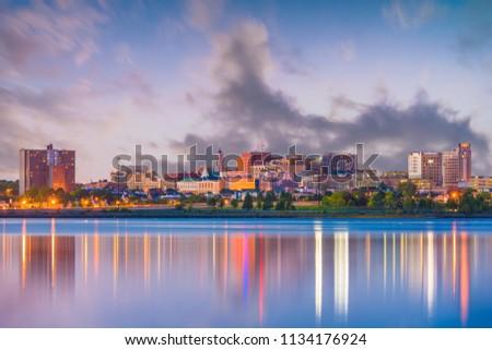 Portland, Maine, USA downtown skyline from Back Cove. #1134176924