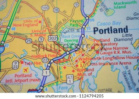 Free photos Closeup of Portland, Oregon on a political map of USA ...