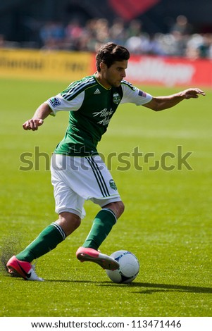 PORTLAND, OR - SEPT 15: The Portland Timbers midfielder Sal Zizzo #7 moves the ball during Seattle Sounders vs. Portland Timbers game, on Sep 15, 2012 at Jeld-Wen Field in Portland, OR.