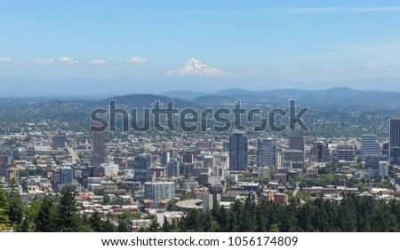 Portland, Oregon. Downtown Skyline Pacific Northwest