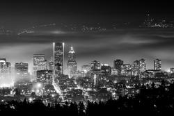 Portland Oregon in Fog