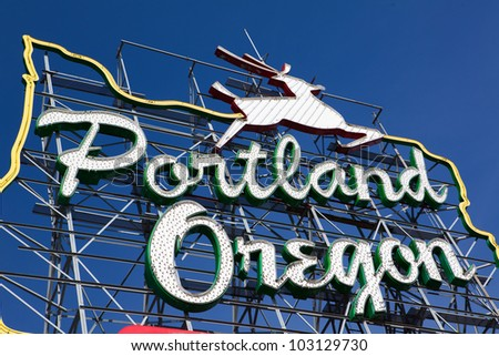 Portland. Oregon sign