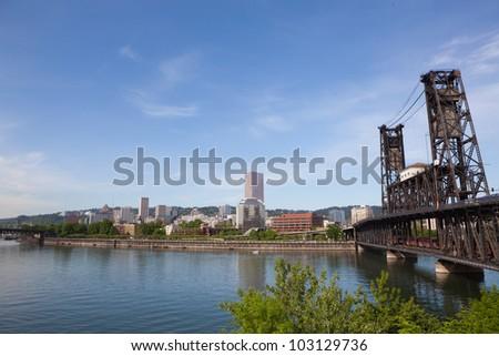 Portland. Oregon skyline